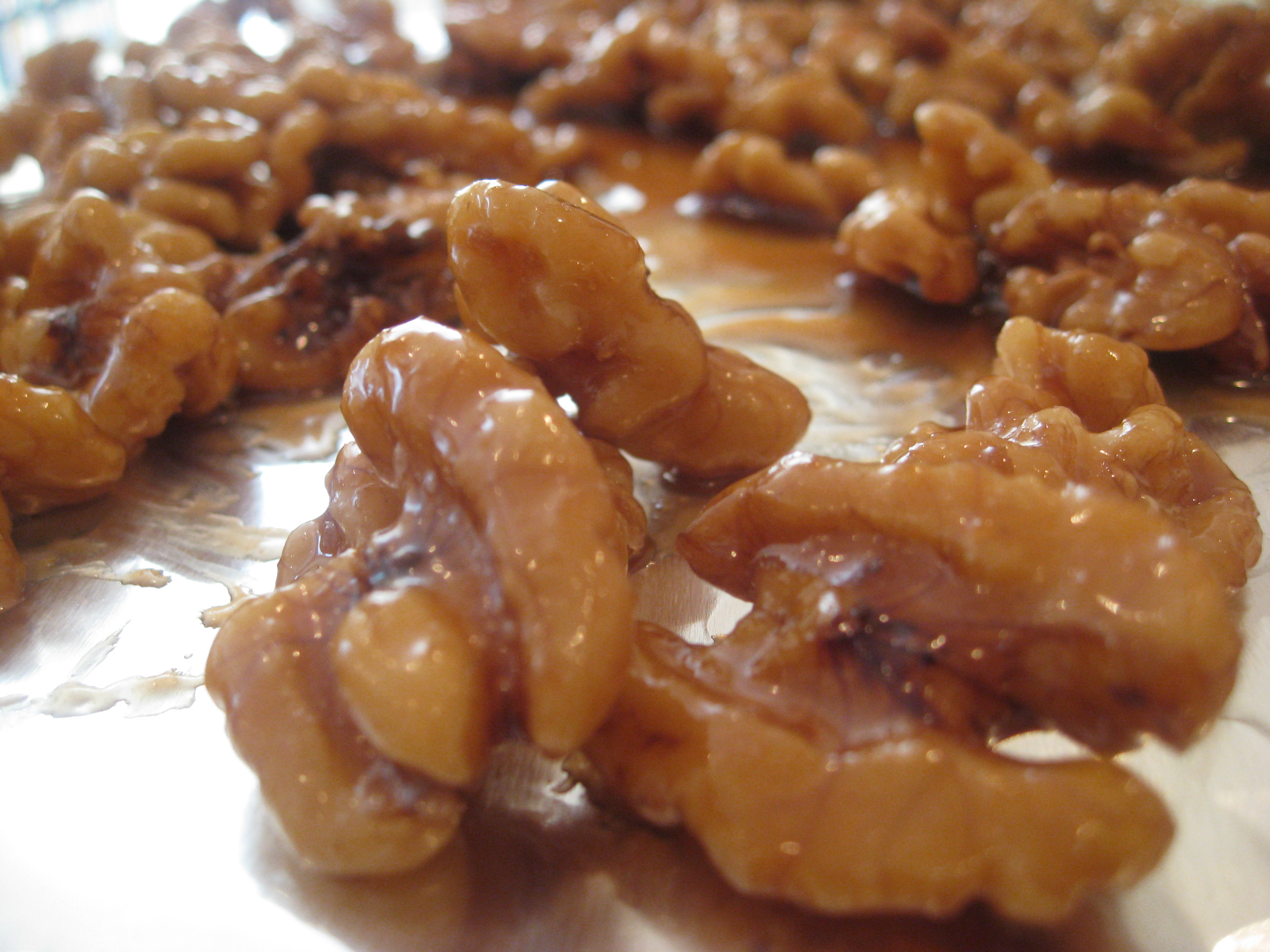 ... walnuts and stir with caramel walnuts and freshly toasted walnuts