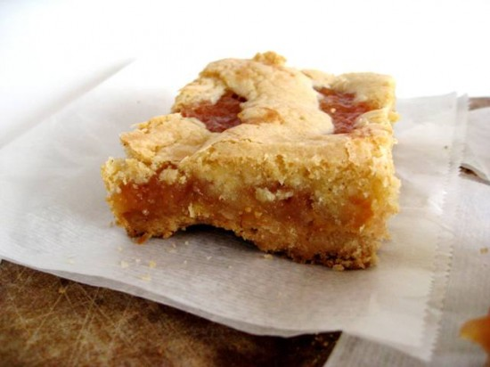 Brown Butter Peach Bars summer recipe desert
